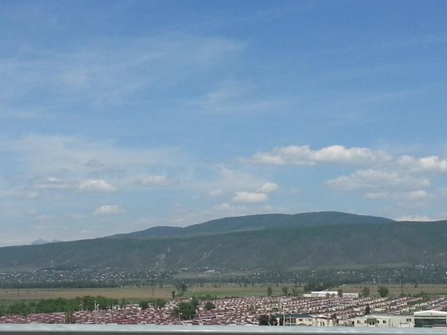 Abchazijos pabėgėlių gyvenvietė.