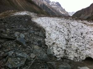 Kitam krante radom sniego nuošliaužą. Ne ledynas dar joks.